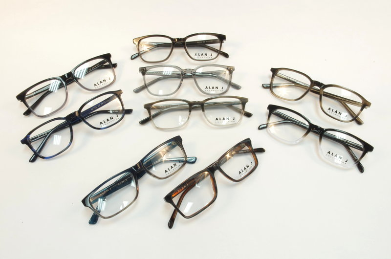 Alan J Eyeglass Frames - Classic Style - American Made